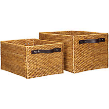 Buy John Lewis Rattan Open Baskets with Handles Online at johnlewis.com