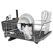 Buy simplehuman Wave Frame Dish Drainer, Grey Online at johnlewis.com