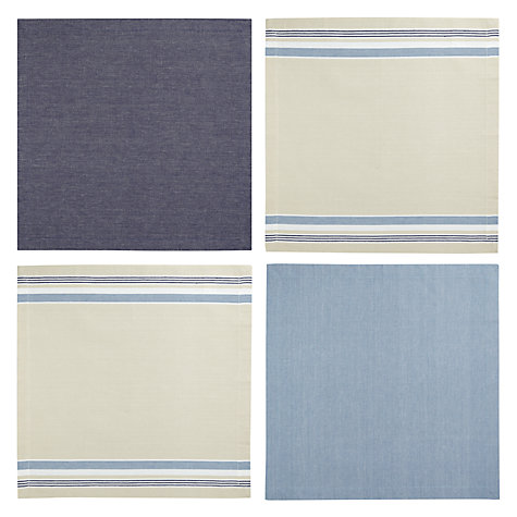 Buy John Lewis Coastal Stripe Napkins, Set of 4 Online at johnlewis.com