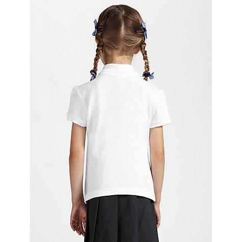 Buy John Lewis Scallop Polo Shirt, Pack of 2, White Online at johnlewis.com