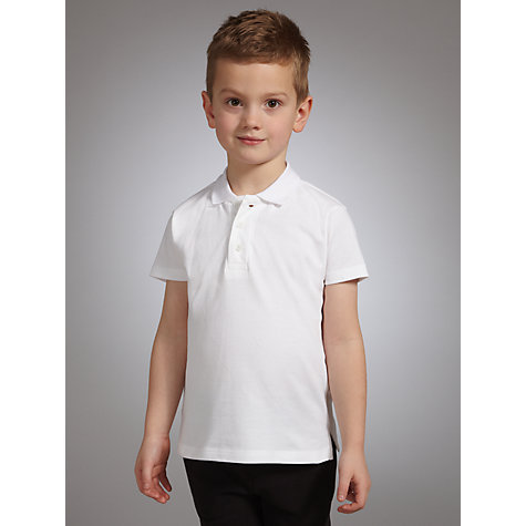Buy John Lewis School Polo Shirts, Pack of 2, White Online at johnlewis.com