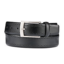 Buy John Lewis Brogue Leather Belt Online at johnlewis.com