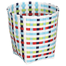 Buy little home at John Lewis, Waste Paper Basket, Check, Multi Online at johnlewis.com
