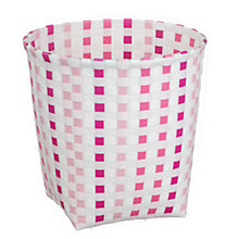 Buy little home at John Lewis, Waste Paper Basket, Check, Pink Online at johnlewis.com
