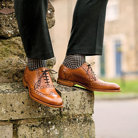 Buy Barker Grant Calf Leather Brogue Shoes, Cedar Online at johnlewis.com