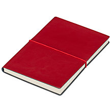 Buy John Lewis A6 Leather Notebook, Red Online at johnlewis.com