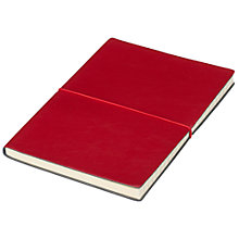 Buy John Lewis A5 Leather Notebook, Red Online at johnlewis.com