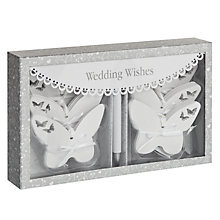 Buy Something in the Air Butterfly Wedding Wishes Cards Online at johnlewis.com