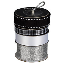 Buy John Lewis Ribbon Spools, Pack of 4, Black/White/Silver Online at johnlewis.com