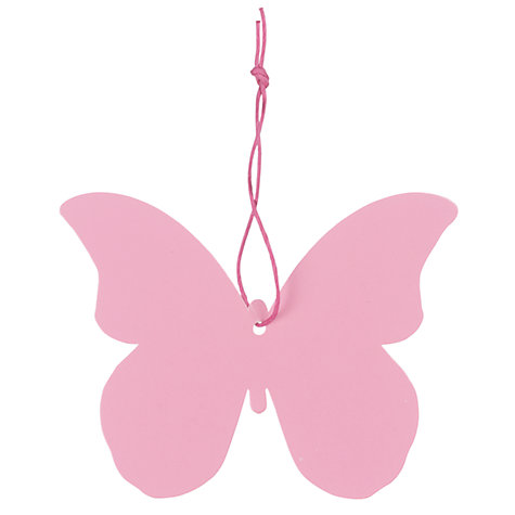 Buy John Lewis Butterfly Gift Tags, Pink, Pack of 5 Online at johnlewis.com
