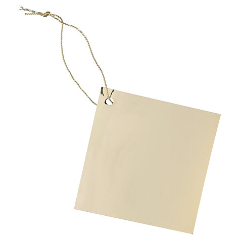 Buy John Lewis Foil Gift Tags, Pack of 10 Online at johnlewis.com