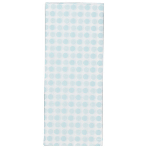 Buy John Lewis Polka Dot Tissue Paper, Blue, 5 Sheets Online at johnlewis.com