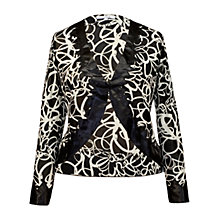 Buy Chesca Mesh Satin Trim Shrug Online at johnlewis.com