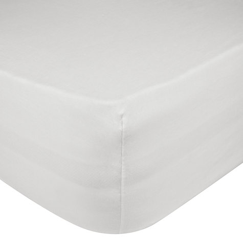 Buy John Lewis Washed Linen Fitted Sheet, White Online at johnlewis.com