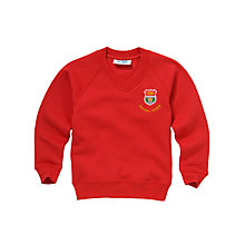 Buy Airyhall Primary School Unisex Sweatshirt, Red Online at johnlewis.com