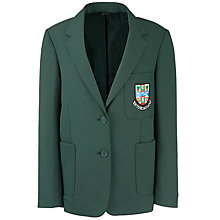 Buy Cults Academy School Girls' Blazer, Bottle Green Online at johnlewis.com