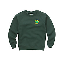 Buy Greenbrae Primary School Unisex Primary Crew Neck Sweatshirt, Bottle Green Online at johnlewis.com