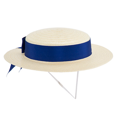 Buy School Girls' Boater Hat Online at johnlewis.com