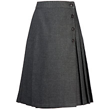 Buy Girls' School Pleated Kilt Skirt, Grey Online at johnlewis.com