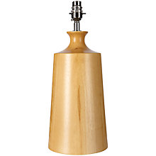 Buy John Lewis Chunky Wood Column Lamp Base Online at johnlewis.com