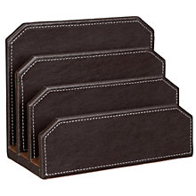 Buy John Lewis Faux Leather Letter Holder, Brown Online at johnlewis.com