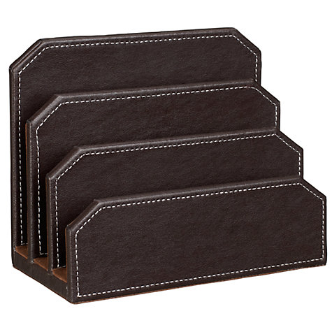 Buy John Lewis Letter Holder, Brown Online at johnlewis.com