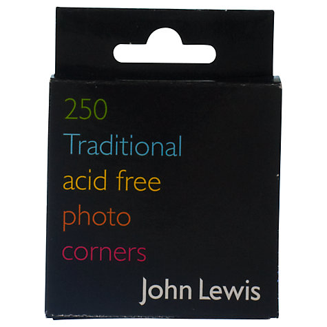 Buy John Lewis Photo Corners, Pack of 250 Online at johnlewis.com