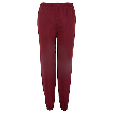 Buy School Unisex Tracksuit Bottoms, Maroon/White Online at johnlewis.com