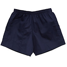 Buy School Boys' Rugby Shorts, Navy Online at johnlewis.com