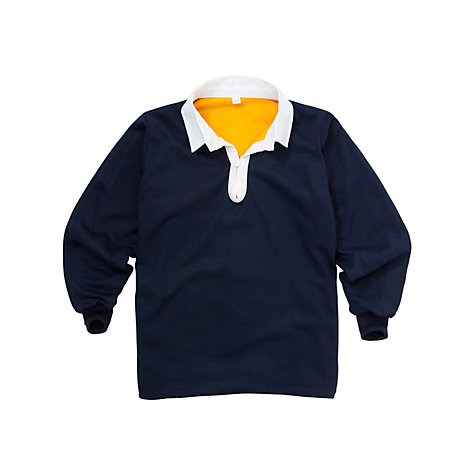 Buy School Boys' Rugby Jersey,  Navy Multi Online at johnlewis.com
