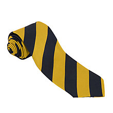 Buy Robert Gordon's College Unisex Tie, Navy/Yellow Online at johnlewis.com