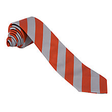 Buy The Hamilton School Unisex School Tie, Red/Grey Online at johnlewis.com