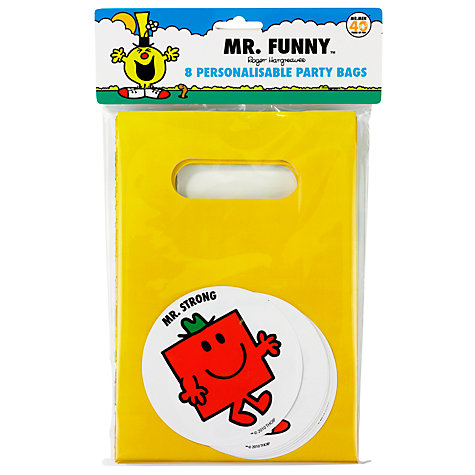 Buy Mr Men Party Bags, Set of 8 Online at johnlewis.com