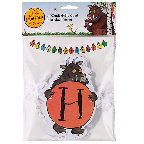Buy Gruffalo Happy Birthday Banner Online at johnlewis.com