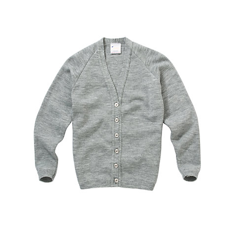 Buy Girls' School Cardigan, Light Grey Online at johnlewis.com