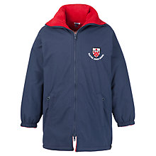 Buy Alleyn's Junior School Unisex Coat, Navy/Red Online at johnlewis.com