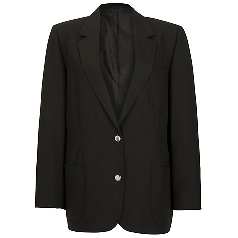 Buy Girls' School Blazer, Black Online at johnlewis.com
