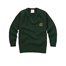 Buy Connaught House School Years 1-6 Unisex V-Neck Jumper, Green Online at johnlewis.com