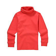 Buy School Long Sleeve Polo Neck, Red Online at johnlewis.com