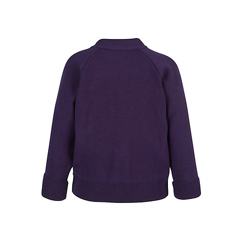 Buy Girls' School Cardigan, Purple Online at johnlewis.com