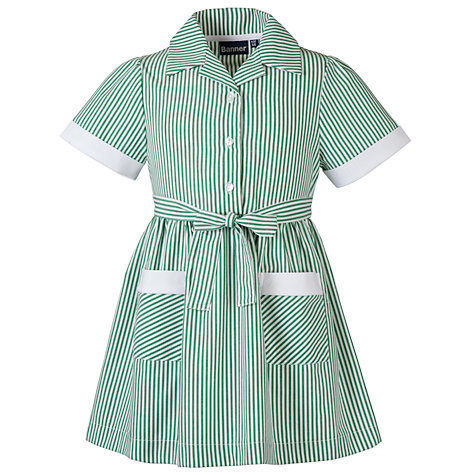 Buy School Girls' Summer Dress, Green Online at johnlewis.com