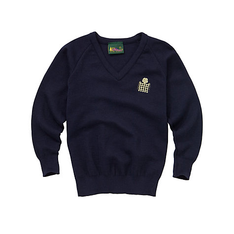 Buy Emanuel School Boys' V-Neck Pullover, Navy Online at johnlewis.com