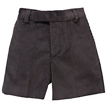 Buy Boys' School Cord Shorts, Grey Online at johnlewis.com