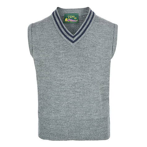 Buy Unisex School Slipover, Grey/Blue Online at johnlewis.com
