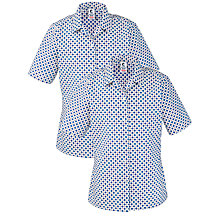 Buy Grey Coat Hospital School Short Sleeve Blouse, Pack Of 2, White/Blue Online at johnlewis.com