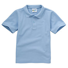 Buy Plain Unisex School Polo Shirt, Light Blue Online at johnlewis.com