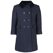 Buy School Girls' Shetland Coat, Navy Online at johnlewis.com