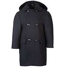 Buy School Unisex Duffle Coat, Navy Online at johnlewis.com