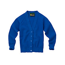 Buy Girls' School V-Neck Cardigan, Royal Blue Online at johnlewis.com