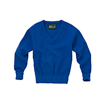 Buy Plain Unisex School V-Neck Jumper, Royal Blue Online at johnlewis.com
